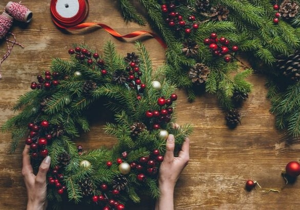 Making Christmas.Wreath Making Workshop Sold Out Airfield Estate